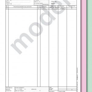 Facturier A4, 3 ex., autocopiativă